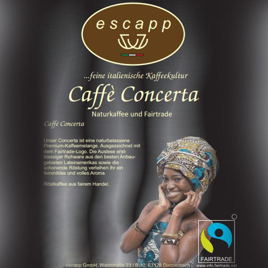 Caffé Concerta Naturkaffee & Fairtrade, 1 kg