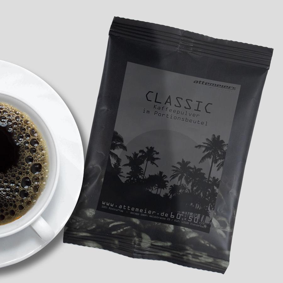 Classic Kaffeepulver im Portionsbeutel, 50 x 60 g
